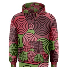 Red and green hypnoses Men s Pullover Hoodie