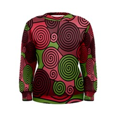 Red and green hypnoses Women s Sweatshirt