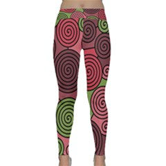 Red and green hypnoses Yoga Leggings