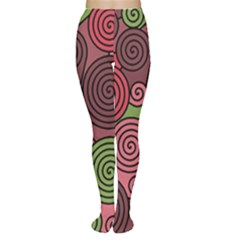 Red and green hypnoses Women s Tights