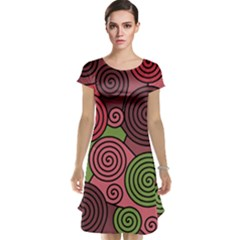 Red and green hypnoses Cap Sleeve Nightdress
