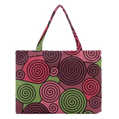 Red And Green Hypnoses Medium Tote Bag