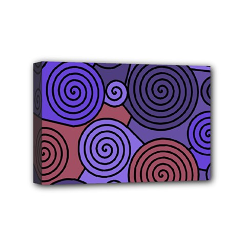 Blue and red hypnoses  Mini Canvas 6  x 4