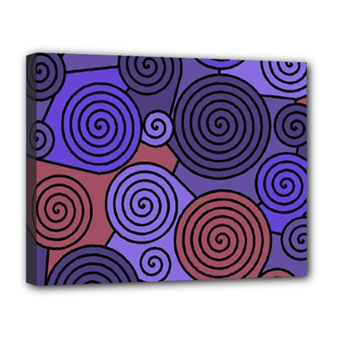 Blue and red hypnoses  Canvas 14  x 11