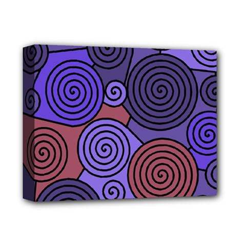 Blue and red hypnoses  Deluxe Canvas 14  x 11
