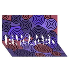 Blue and red hypnoses  ENGAGED 3D Greeting Card (8x4)