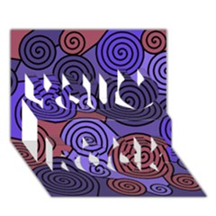 Blue And Red Hypnoses  You Rock 3d Greeting Card (7x5)