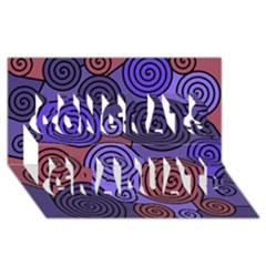 Blue and red hypnoses  Congrats Graduate 3D Greeting Card (8x4)