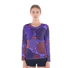 Blue and red hypnoses  Women s Long Sleeve Tee