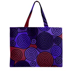 Blue and red hypnoses  Zipper Mini Tote Bag