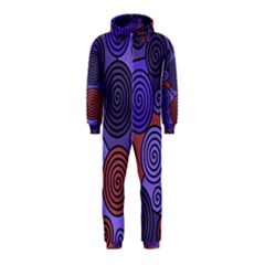 Blue and red hypnoses  Hooded Jumpsuit (Kids)