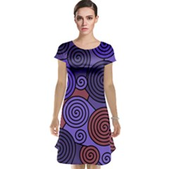 Blue and red hypnoses  Cap Sleeve Nightdress
