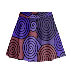 Blue and red hypnoses  Mini Flare Skirt