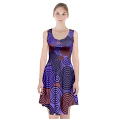 Blue and red hypnoses  Racerback Midi Dress