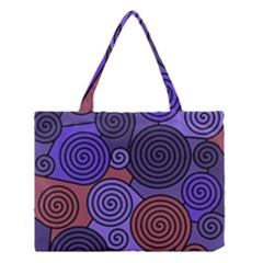 Blue and red hypnoses  Medium Tote Bag