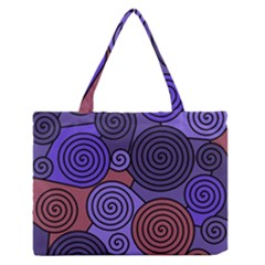 Blue And Red Hypnoses  Medium Zipper Tote Bag