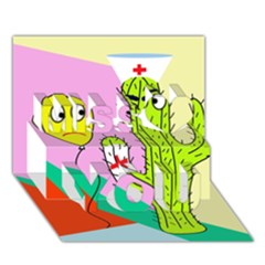 Health Insurance  Miss You 3d Greeting Card (7x5)