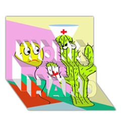 Health insurance  WORK HARD 3D Greeting Card (7x5)