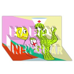 Health insurance  Happy New Year 3D Greeting Card (8x4)