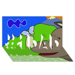 Butterfly And Rhino #1 Dad 3d Greeting Card (8x4)