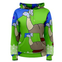 Butterfly and rhino Women s Pullover Hoodie