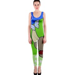 Butterfly and rhino OnePiece Catsuit