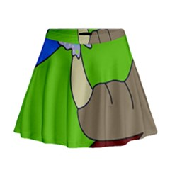 Butterfly and rhino Mini Flare Skirt