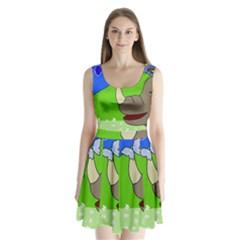 Butterfly And Rhino Split Back Mini Dress
