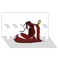Boot MOM 3D Greeting Card (8x4)