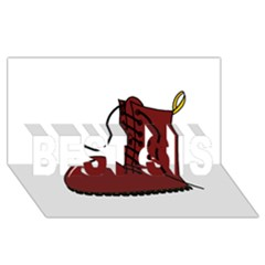Boot BEST SIS 3D Greeting Card (8x4)