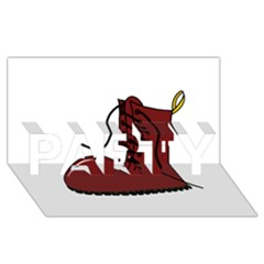 Boot PARTY 3D Greeting Card (8x4)