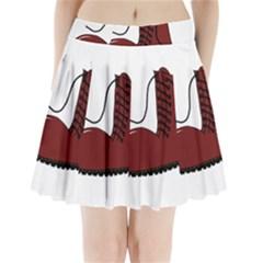Boot Pleated Mini Skirt