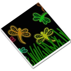 Neon dragonflies Small Memo Pads
