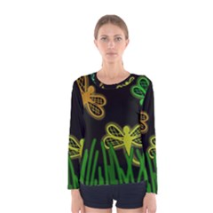 Neon dragonflies Women s Long Sleeve Tee