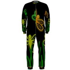 Neon dragonflies OnePiece Jumpsuit (Men)