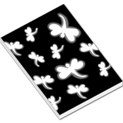 White dragonflies Large Memo Pads