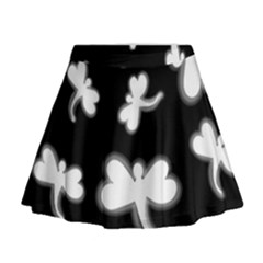 White dragonflies Mini Flare Skirt