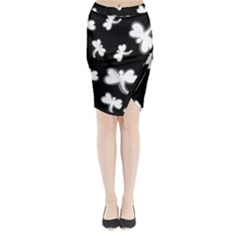 White dragonflies Midi Wrap Pencil Skirt