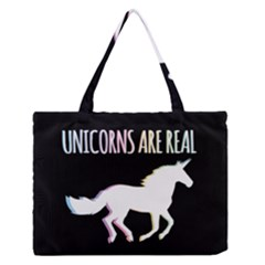 Unicorns are Real Medium Zipper Tote Bag