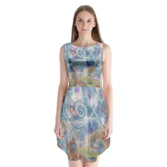 Spirals Sleeveless Chiffon Dress
