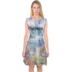 Spirals Capsleeve Midi Dress