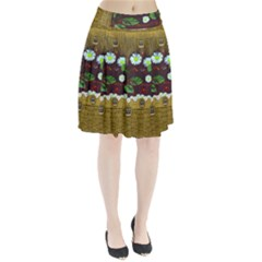 Gothic Bat In The Night Pleated Skirt