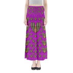Love In Colors And Heart In Rainbows Maxi Skirts