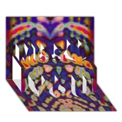 Disco Pattern Miss You 3d Greeting Card (7x5)