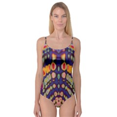 Disco Pattern Camisole Leotard