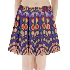 Disco Pattern Pleated Mini Skirt