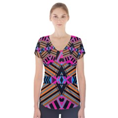Eleven House Short Sleeve Front Detail Top