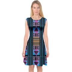 DOOR TWO DOOR Capsleeve Midi Dress