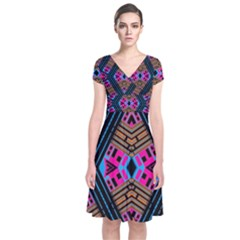 House Of House (3)ujuj Short Sleeve Front Wrap Dress
