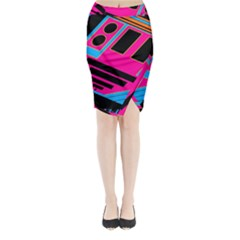 Olool Midi Wrap Pencil Skirt